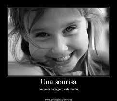 observa esta sonrisa que  te hará sonreír aunque no quieras
