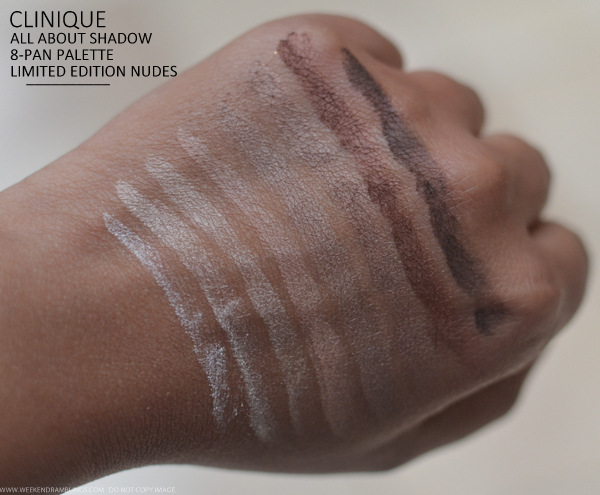 Clinique All About Shadow 8 Pan Palette Limited Edition Nudes Neutral Territory Photos Swatches