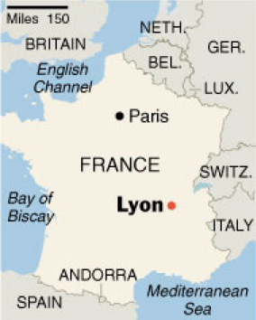 city of lyon france and the rhone river valley pedal