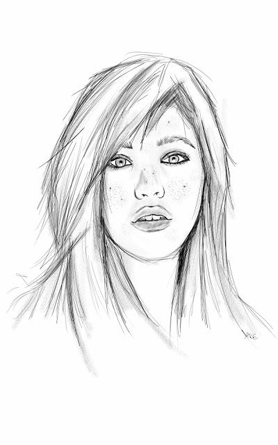 portrait jeune fille sketchbook pro