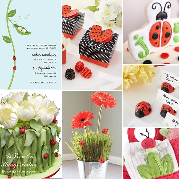 ladybug baby shower theme joyful