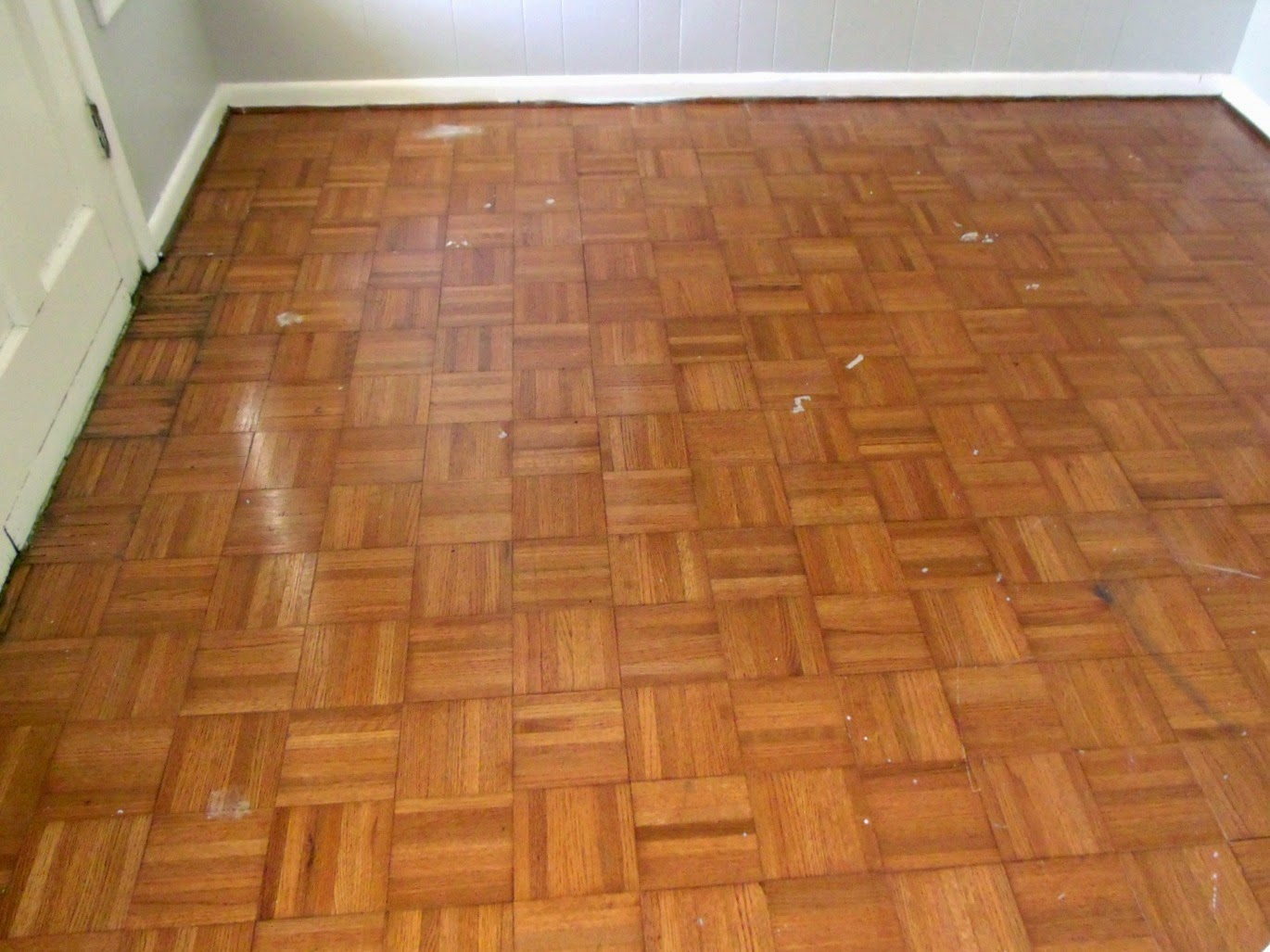 Cultivate create painted parquet floor for Parquet hardwood flooring