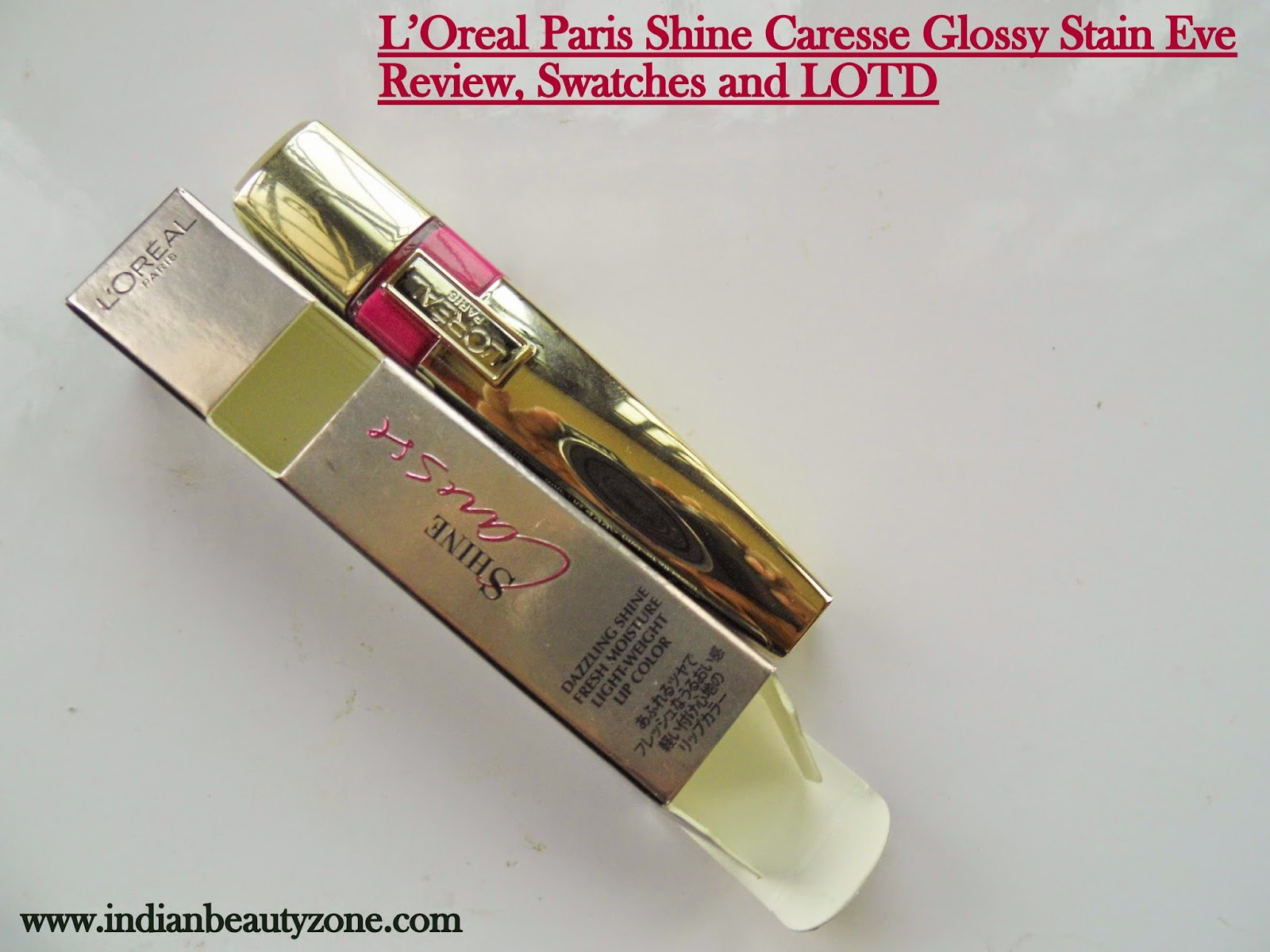L'Oreal Paris Shine Caresse Glossy Stain Eve Swatches and LOTD