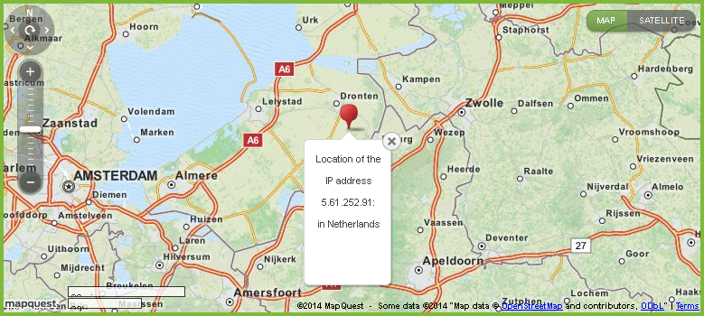 how to find location of a palpal address