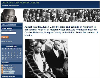 Rev. Elijah Hill 20 years of COGIC Research