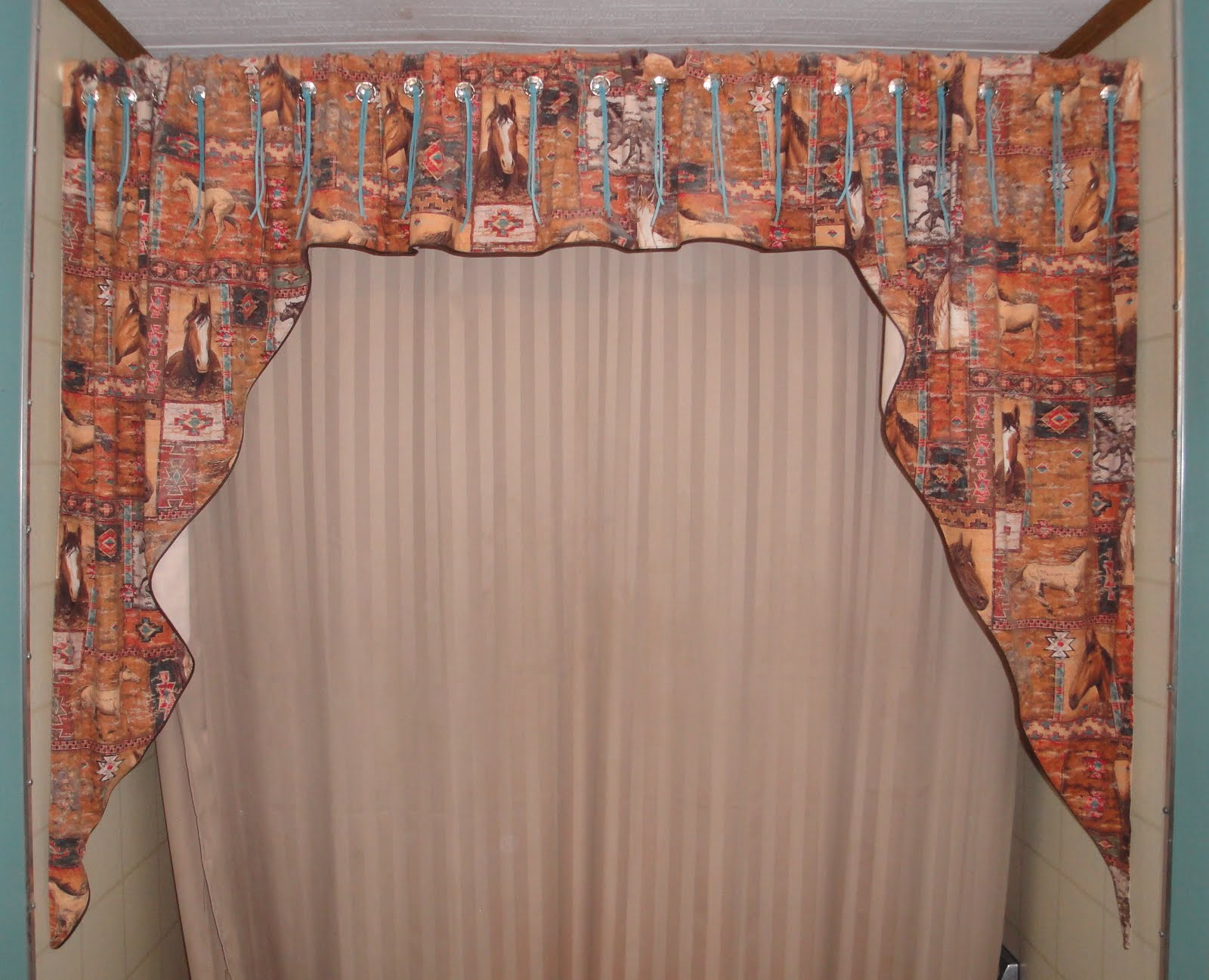 Great shower curtains with valance curtains design - Curtain photo designs ...