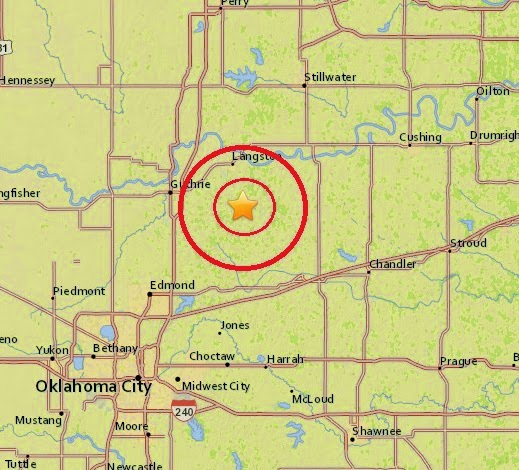 Magnitude 3.1 Earthquake of Langston, Oklahoma 2015-04-10