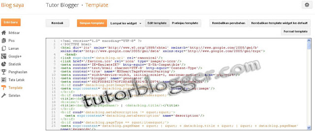 Tampilan Edit HTML Terbaru Blogspot 2013