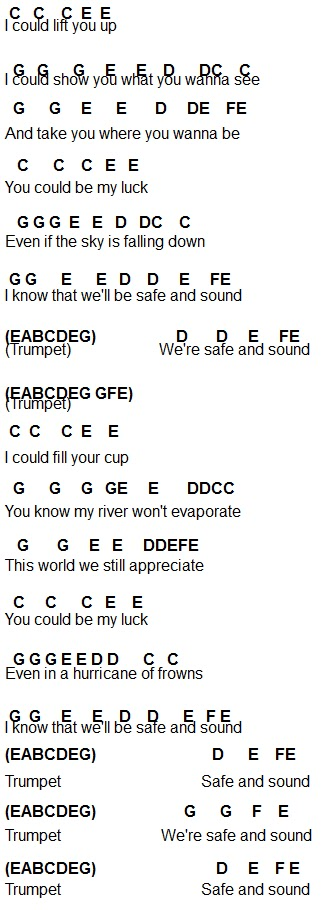 Flute Sheet Music Safe And Sound