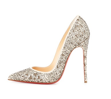Christian Louboutin Laser Cut High Heeled Pump