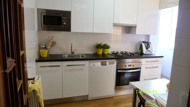 Antes y despu s la cocina de patricia despu s de pintar - Pintura para baldosas de cocina ...