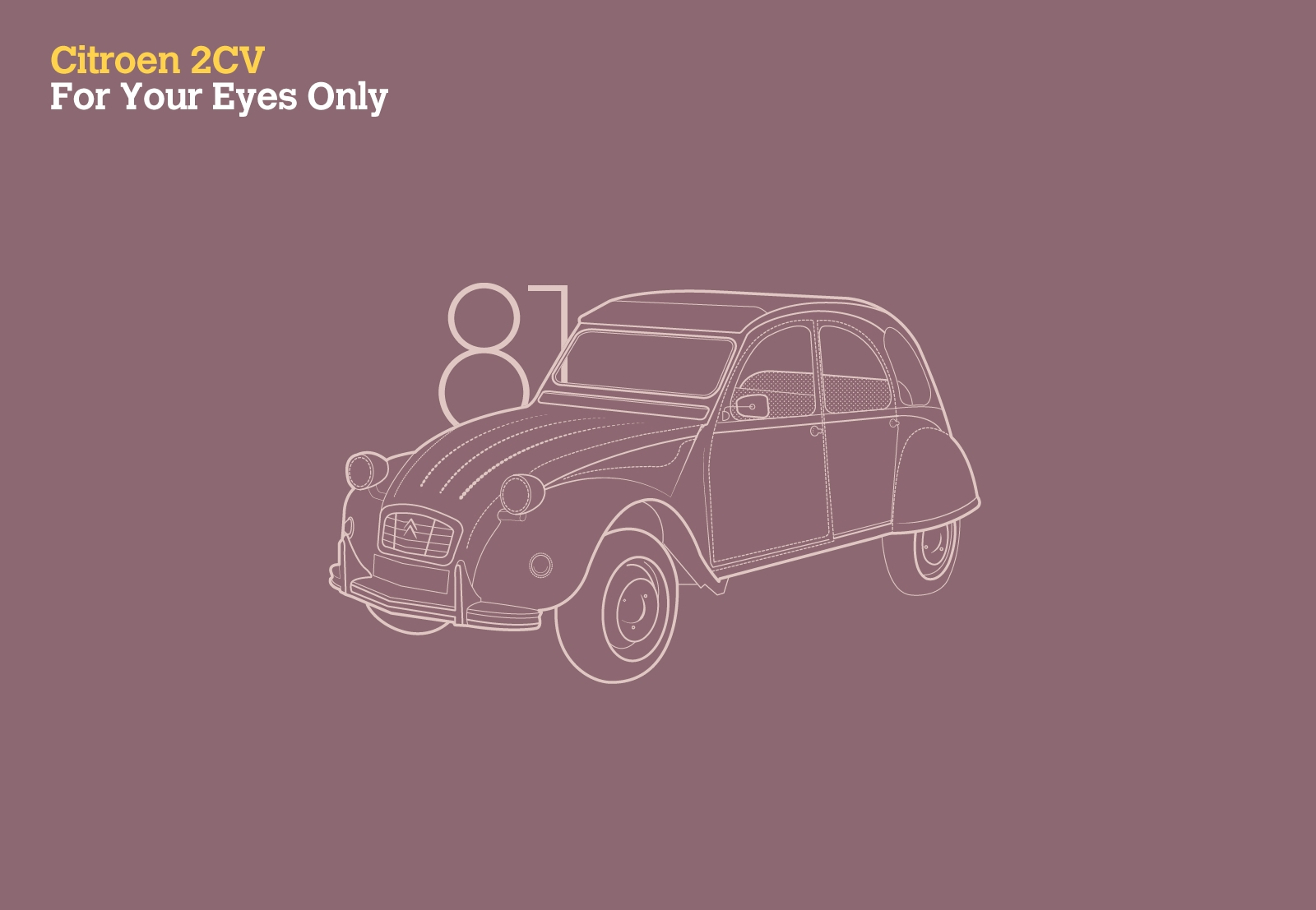 Citroen 2CV For Your Eyes Only