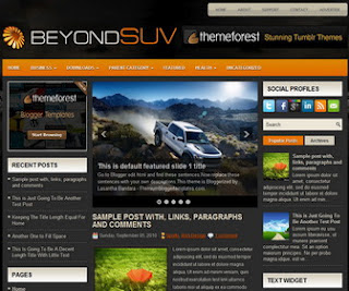 BeyondSuvs Free Blogger Template