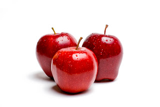 Red, ripe apples