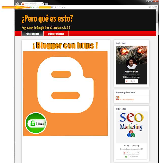 Blogger con https o mejor conocidos como SSL