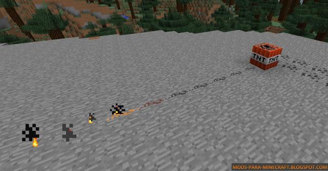 Utilizar la polvora para encender la TNT - Placeable Gunpowder Mod para Minecraft 1.7.10/1.8/1.8.8