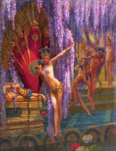 exotic dancers,symbolism art,art paintings