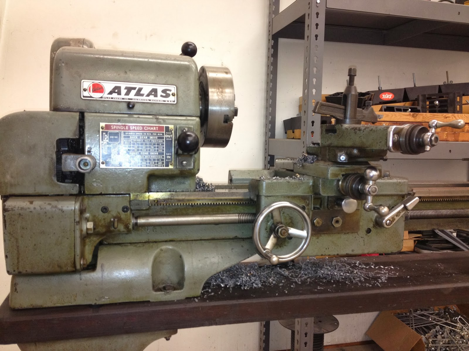 Bench Lathe Metal Part - 16: Machine IDu0027d: Atlas 12×36 Bench Top Metal Lathe Model 3983