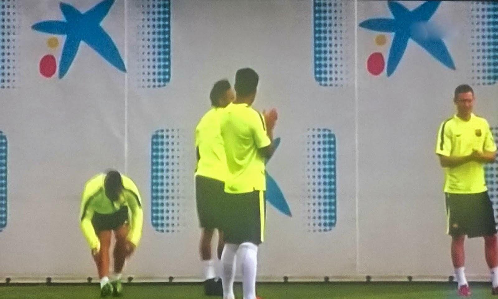 La Caixa patrocinio en Campo Entrenamiento del Barça