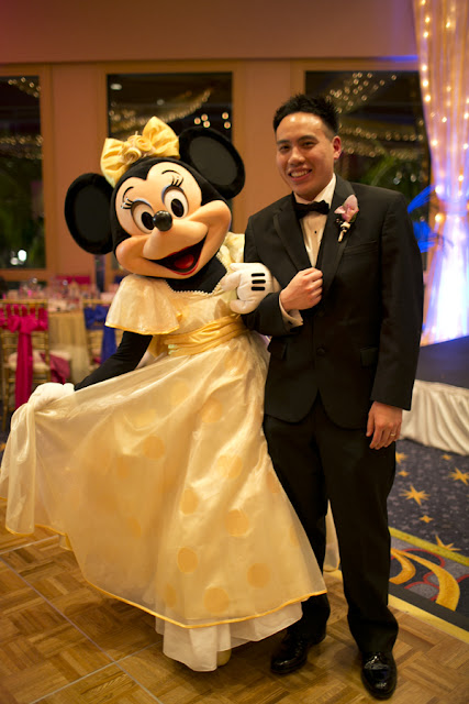 Minnie and Groom - Disneyland Wedding {Sarina Love Photography}