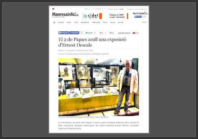 PINTURA-MANRESA-2 DE PIQUES-NOTICIES-PINTURES HISTORIQUES-EXPOSICIO-NACIO DIGITAL-PINTOR-ERNEST DESCALS-