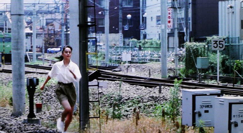 ユウが降りた駅(別角度) 川越 映画「東京上空いらっしゃいませ」の風景