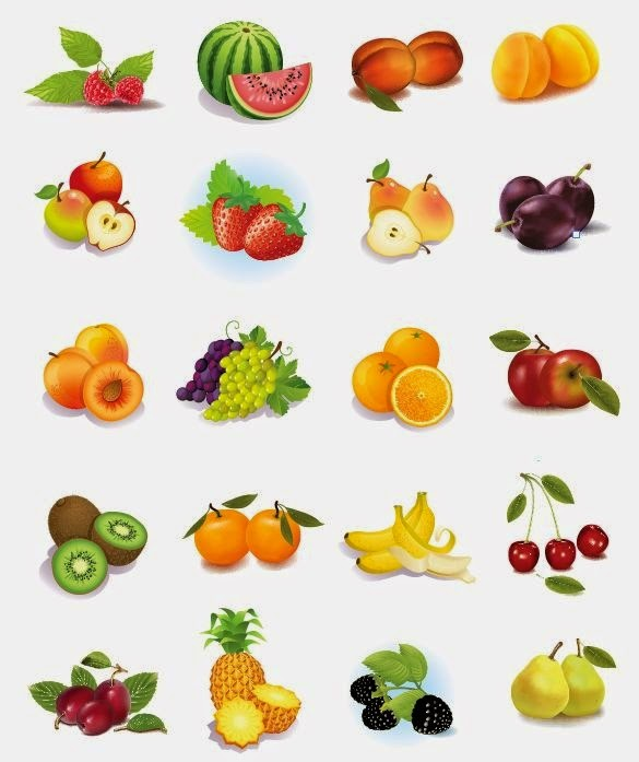 Fruits Vector Icons