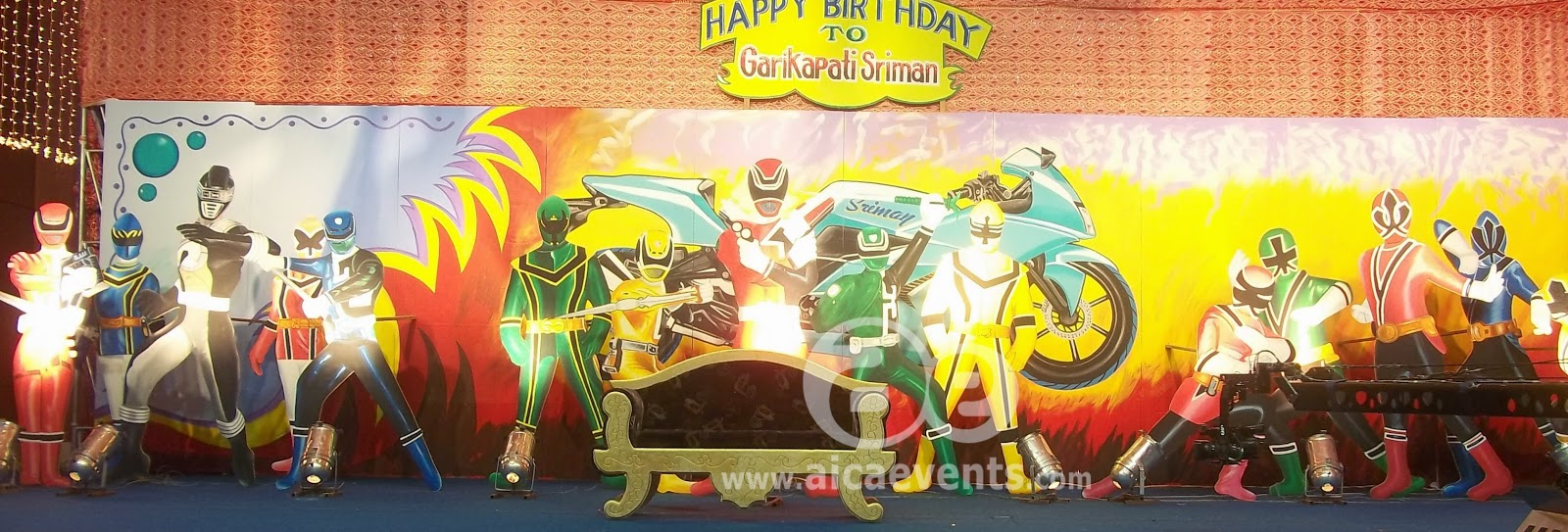 Aicaevents India: Power Rangers Theme party