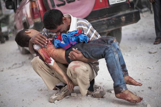 A Sad view Syrian Civil War