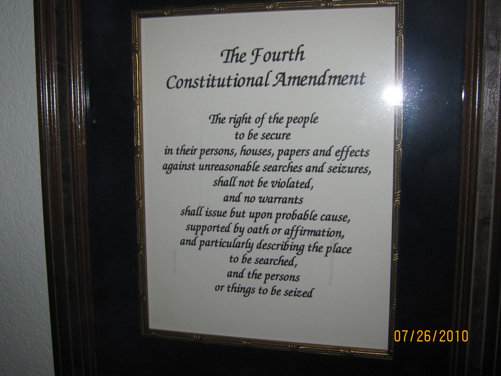 unit 3 fourth amendment In other words, the fourth amendment doesn't prevent private citizens, companies, or organizations from conduct searches and seizures (although it is likely that there are criminal and civil laws limiting the actions of non‐government officials.