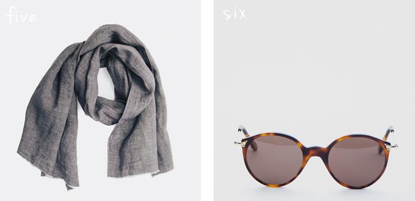 Our Legacy Raw Scarf // Algha SR Sussex Sunglasses