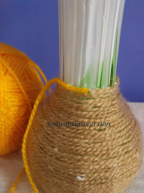 Diy : Yarn Wrapped Vase Tutorial - Step 5