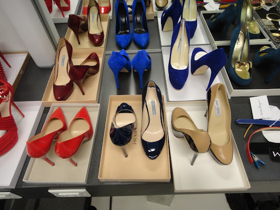 Behind the scenes: selection of shoes for a Kohler Strayt photo shoot