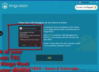 Kingo Root Minta Izin Akses Advan Vandroid T5C