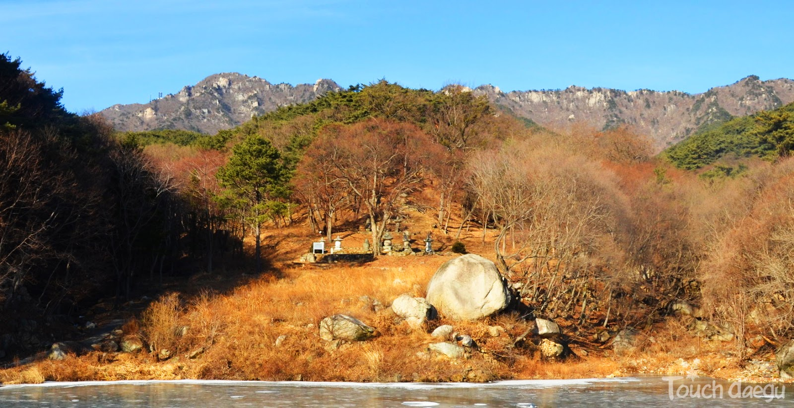 The view near Donghwasa temple in morning