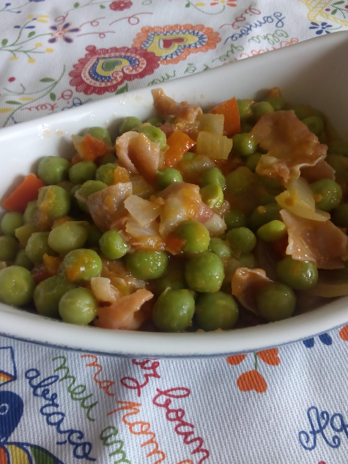 Aquienmisalon guisantes con jamon for Cocinar guisantes congelados