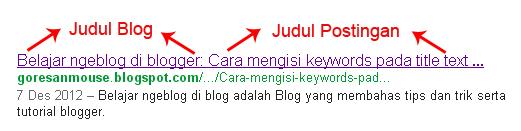 Cara menampilkan judul postingan di depan judul blog agar lebih seo terhadap mesin pencari