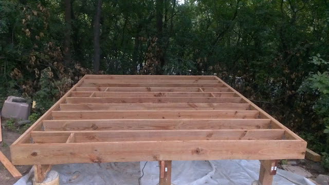 Building the floor box joist and hanging them on hanger.