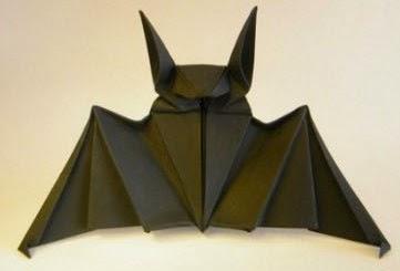 Tutorial para hacer Murciélagos con Origami.