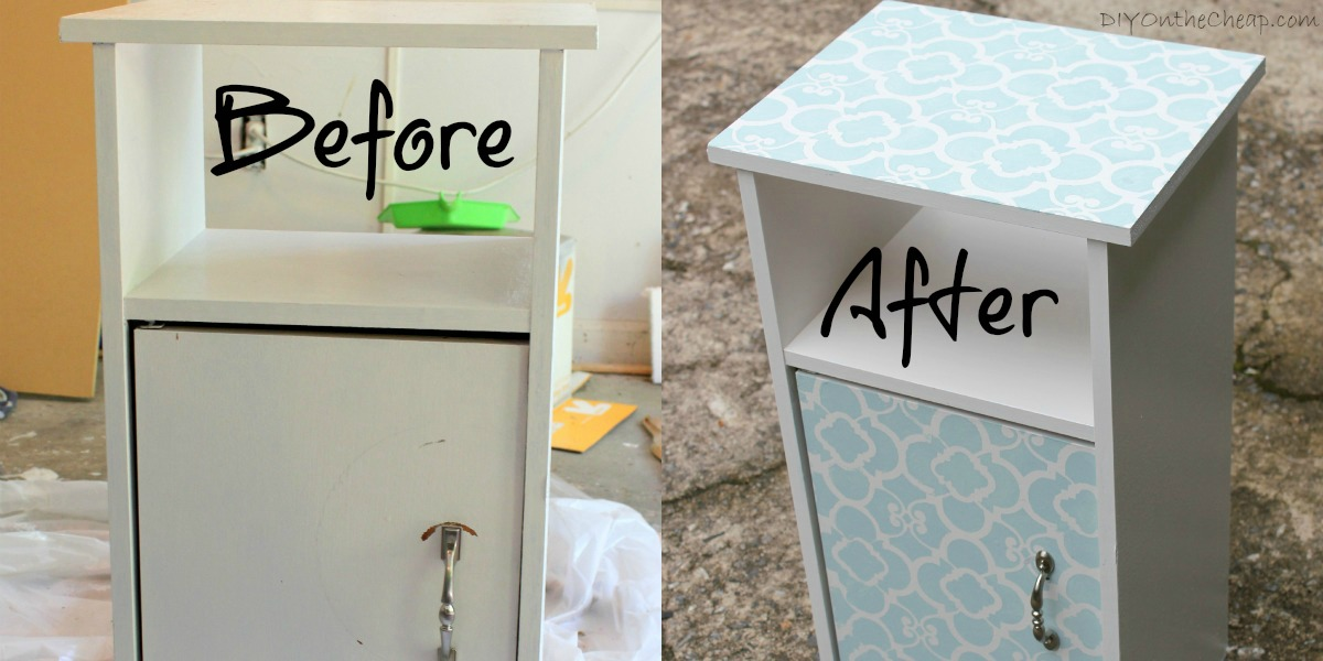 Stenciled Cabinet & Royal Design Studios Review - Erin Spain