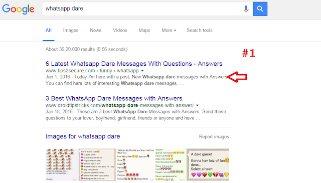 keyword: whatsapp dare
