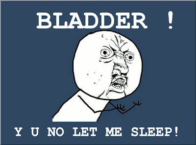 Rage Comic :Bladder! Y U no let me sleep