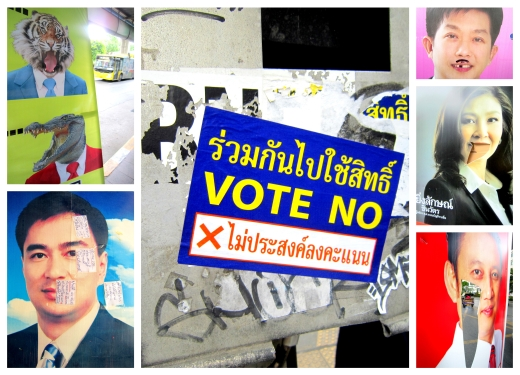 Thailand election posters