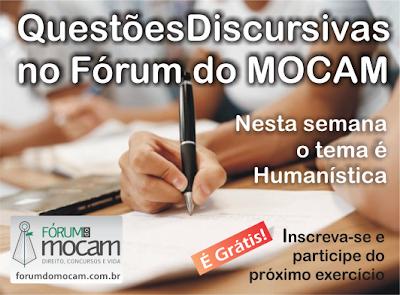 Questões Discursivas no Fórum do MOCAM