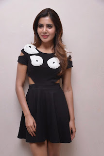 Actress Samantha  Pictures in Short Dress at Naa Bangaaru Talli Movie Promotion  2