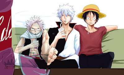 One Piece dan Fairy Tail dan Gintama