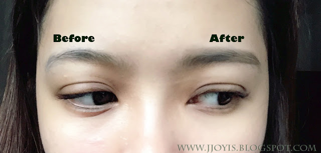 etude house drawing eyebrow crayon before after swatch