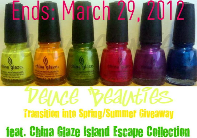 WIn China Glaze Island Escape Collection