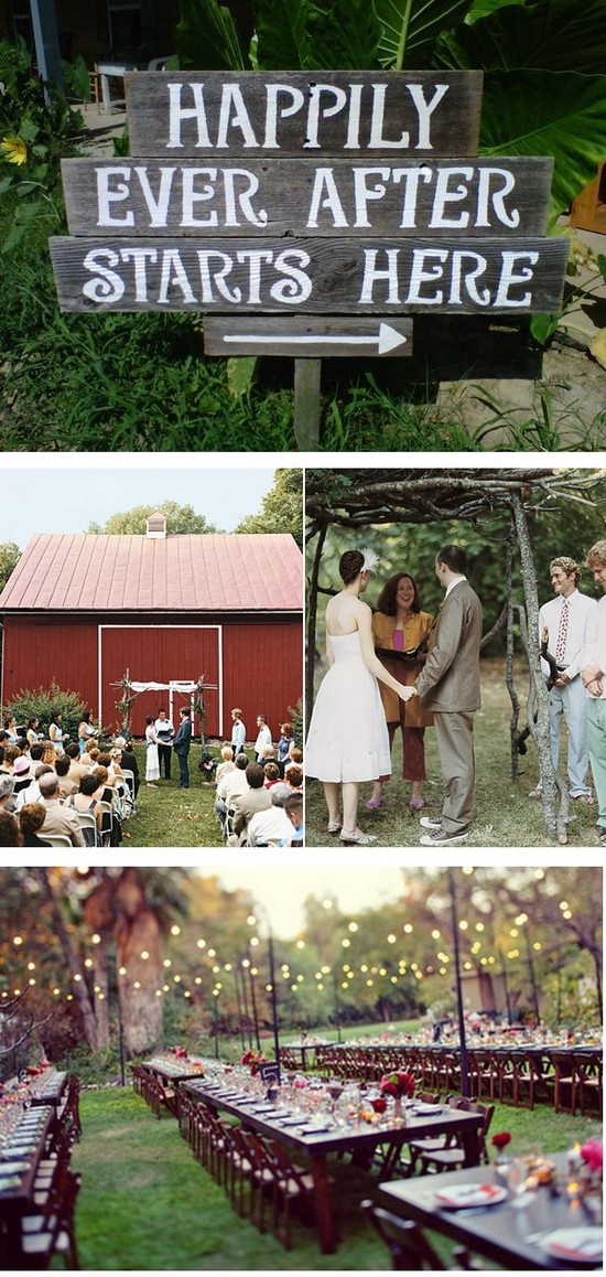 Backyard wedding ideas inspiration board for Backyard wedding ceremony decoration ideas