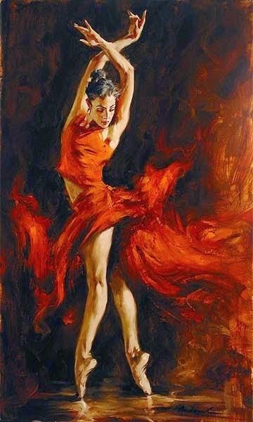 pintura de dança